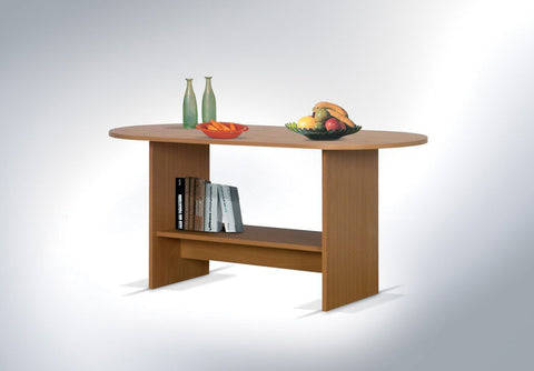 CHARMIAN - Modern Oval Table with a Shelf. Designed to suit every interior >123x60cm<