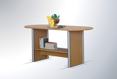 CHARMIAN LUX - Modern Oval Table with a Shelf. Designed to suit every interior >123x60cm<