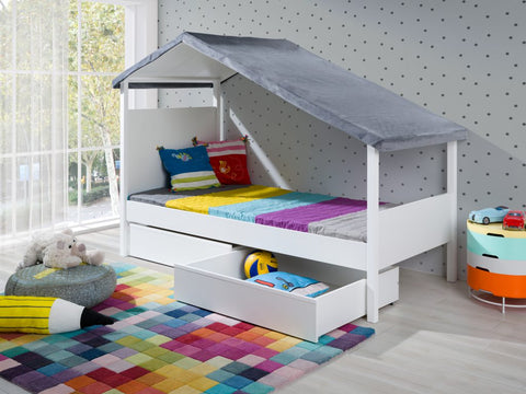 MOLLY - Unique Cabin Bed with Lovely Roof - a lot of fun for your kids NEW COLLECTION