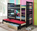 ROLAND III - Perfect triple bunk bed for house-proud kids - Wardrobe-Bunk-Bed-Sofa - 1