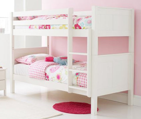 ALIGA - lovely, solid white wooden bunk bed