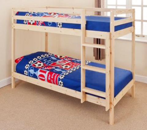 HOPPLIT - Catchy pine wood bunk bed which fits everywhere
