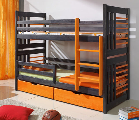 ROLAND II- Safety and well built bunk bed with drawers - Wardrobe-Bunk-Bed-Sofa