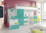 PARADISE I - your loved ones will love it for modern design and functional - Wardrobe-Bunk-Bed-Sofa - 2