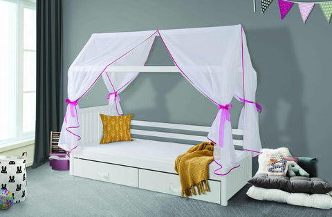 ROXANNE - Unique Pine Bed with Lovely Canopy - a lot of fun for your kids NEW COLLECTION