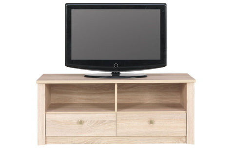 WALTZ A18 - Modern RTV Stand with 2 Drawers and Natural Design >110cm<