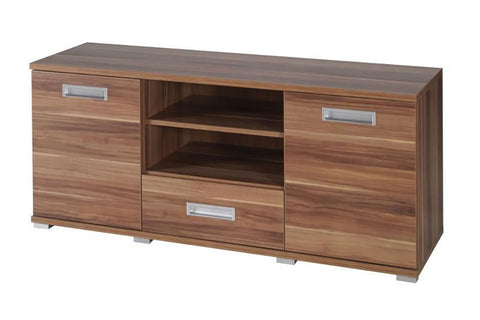 ELLE E3 - Modern RTV Stand with a Drawer, 2 Doors and Shelves >138cm<