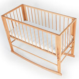 Cradle DREAMER SIMPLE -  front-back direction. Solid beech wood.