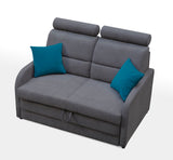 VIBARO - Functional sofa bed with Sleeping Function, Storage, Adjustable Headrests >144x91cm<