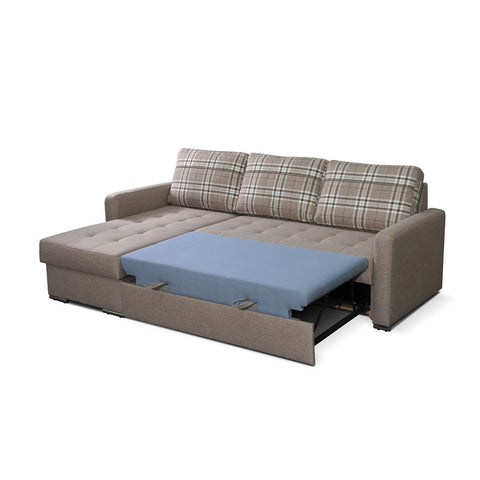 Barty Modern Corner Sofa Bed With Storage And Pull Out