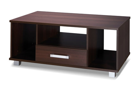 RUSSEL II - Modern Table with a Drawer and Shelves. Suitable for every room >110x60cm<