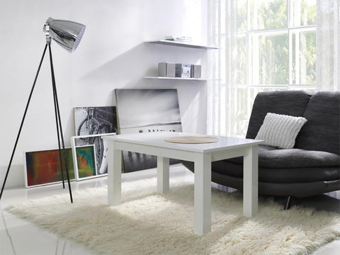 LORA 1A - Modern table with simple aesthetics. Designed to suit every interior. White Matt >102x62cm<