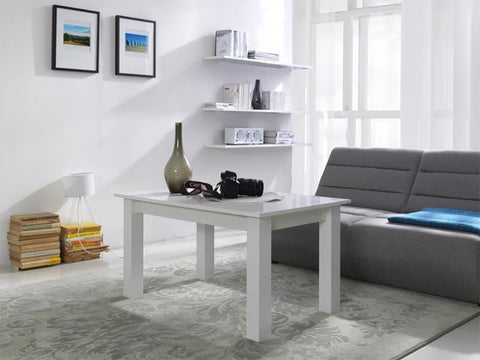 LORA 2A - Modern table with simple aesthetics. Designed to suit every interior. White High Gloss >102x62cm<