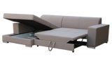 MEXICO - Comfortable Corner Sofa Bed with Storage and Pull Out Bed >263x178cm< FAST DELIVERY