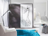 SOPHIA IV - Wardrobe With a Giraffe, Ruller and Sliding Doors for you and your children >206cm<