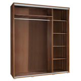 ELLE 1.1 - Modern Wardrobe With Sliding Doors, Shelves and Hanging Rail >155cm<