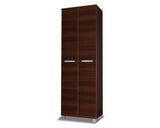 RUSSEL I - Solid Wardrobe with Hanging Rail and a Shelf will save space in your room >68cm<