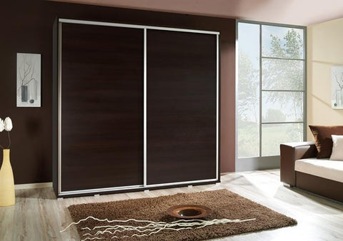 ELLE 2.1 - Modern Wardrobe With Sliding Doors, Shelves and Hanging Rail >205cm<