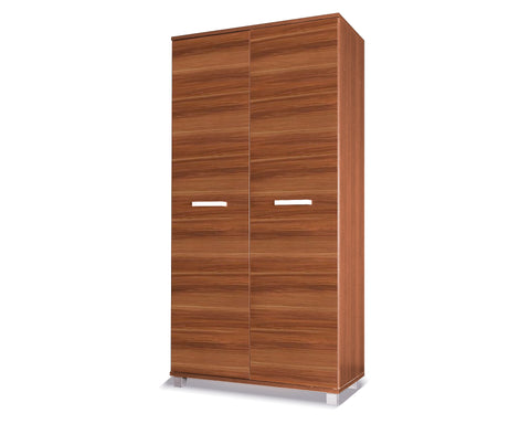 RUSSEL II - Solid Wardrobe with Hanging Rail and a Shelf will save space in your room >100 cm<
