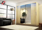 AVA 4.3 - 2 Sliding door wardrobe with LED Lights and the best separator shelf system >180x213cm<