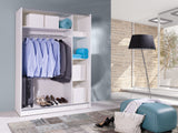 BARBADOS 2 - Wardrobe With Mirror, Sliding Doors, Shelves and Hanging Rail >150cm<