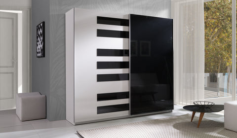 PIANISSIMO - Extraordinary Wardrobe with Sliding Doors, Shelves and Hanging Rail for music lovers >225 cm<
