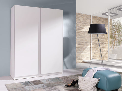 BARBADOS 1 - Wardrobe With Sliding Doors, Shelves and Hanging Rail >150cm<