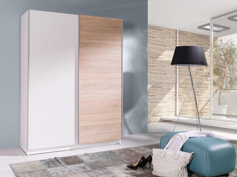 BARBADOS 3 - Wardrobe With Sliding Doors, Shelves and Hanging Rail >150cm<