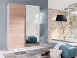 BARBADOS 5 - Wardrobe With Mirror, Sliding Doors, Shelves and Hanging Rail >150cm<