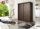 BARBAROSSA I - 2 sliding door wardrobe with huge capacity >150cm width<