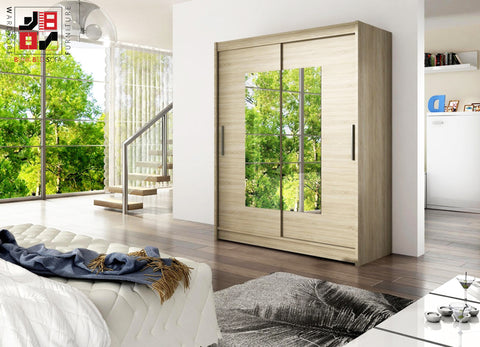 BARBAROSSA III - 2 sliding door wardrobe with mirrors and impressive capacity >150cm width<