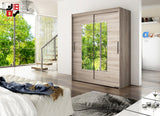 BARBAROSSA III - 2 sliding door wardrobe with mirrors