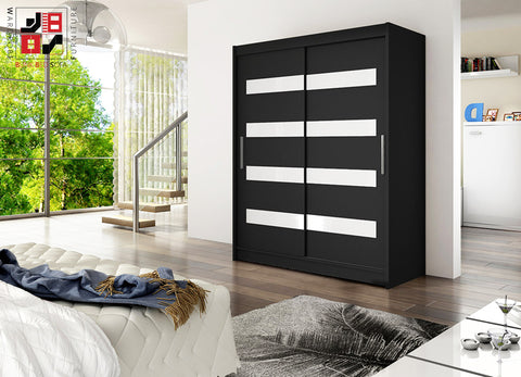 BARBAROSSA IV - 2 sliding door wardrobe with mirrors and impressive  capacity >150cm width<