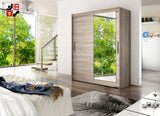MISESA VI - 2 sliding door wardrobe with mirrors