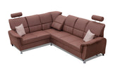 DIANA - Functional and solid designed corner sofa bed with TV function >275x220cm<
