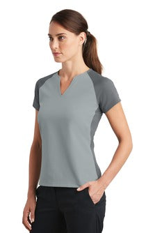 Nike Golf Ladies Dri-FIT Stretch Woven V-Neck Top (838960) - Heim Middle