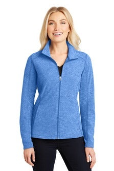 Ladies Full Zip Heathered Microfleece Jacket (L235) - SMSD