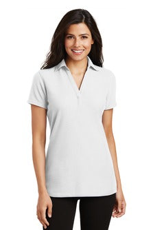 "Ladies Silk Touch ""Y-Neck"" Polo - (L5001) - BBH"