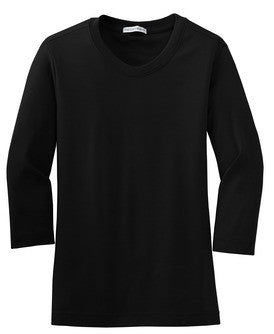 Ladies 3/4 Sleeve Scoop Neck Shirt (L517) - Mill