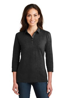 Ladies 3/4 Sleeve Meridian Polo - (L578) - Heim Elementary