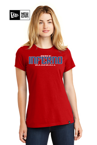 Ladies New Era S/S Blend Tee Shirt (LNEA100) - Inferno