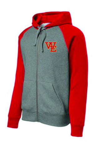 Colorblock Full Zip Hoodie (ST269) - Williamsville East