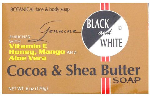 Black and White® Cocoa & Shea Butter Soap