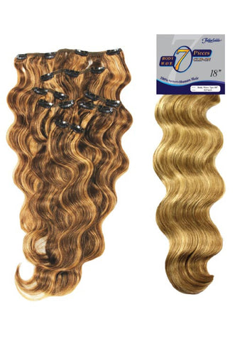 "Fashion Source 7 Piece Clip On Extensions ""Body Wave"""