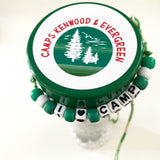 Personalized camp bunk gift filled with nut free and peanut free candy plus other bunk junk