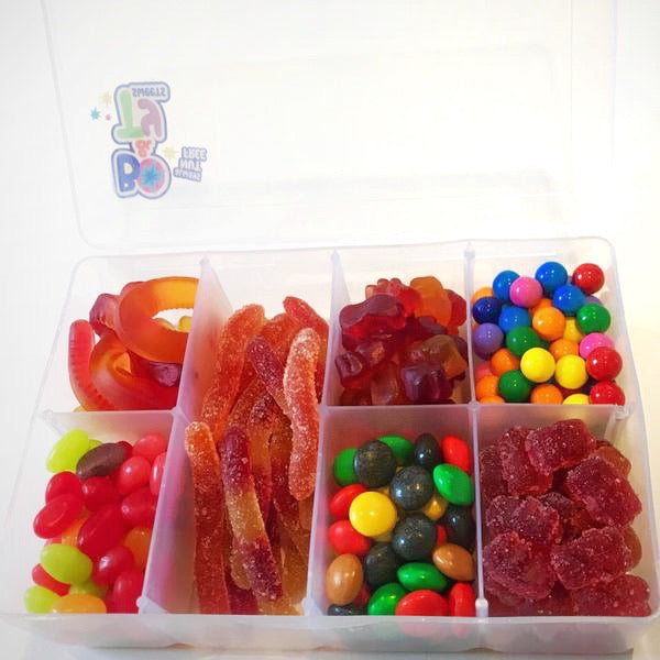 Quarantine Candy in a Tackle Box