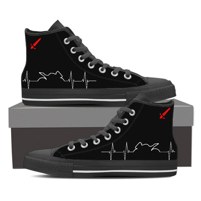 Bike Heartbeat Hightops - RevMafia
