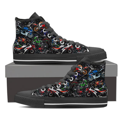 Allover Sportbike Women's Hightops - RevMafia