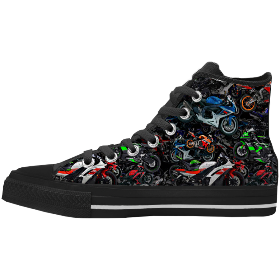 Allover SportBike Mens High Tops
