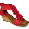 VANGELO Women Sandal AISHA-2 Wedge Sandal Red